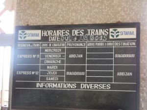 Sitarail Schedule